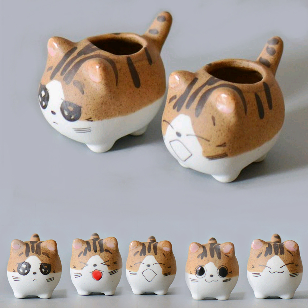 Cartoon Pet Bonsai Planter Pots Hot Sale Flower Pot Succulent Plants Flowerpot Desktop Funny Balcony Garden Decorative