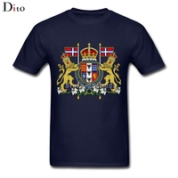 Royal Coat Of Arms Of The Victorian Empire T Shirt Men Male Digital Direct Printing Custom