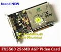 Прямо с Завода Бесплатная Доставка НОВЫЙ GeForce FX5500 256 МБ DDR AGP 4X 8X VGA DVI Видеокарта