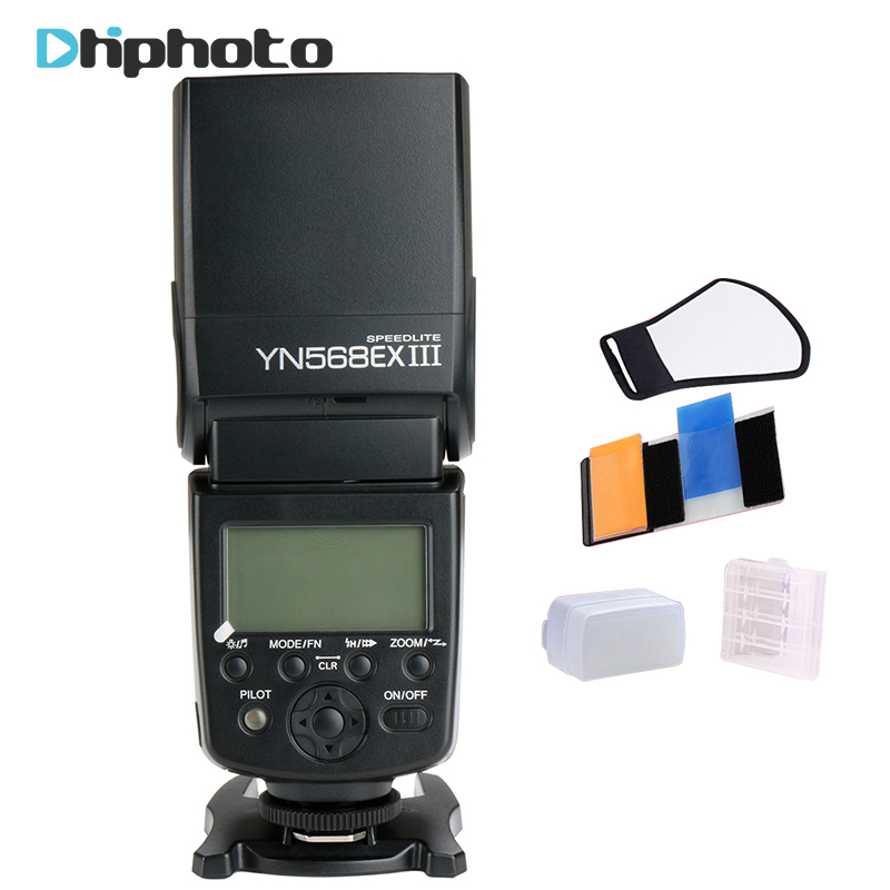 YONGNUO YN-568EX II YN568EX III Wireless TTL HSS Flash Speedlite for Canon 1100d 650d 600d 700d for Nikon D800 D750 D7100 3pcs yongnuo yn600ex rt auto ttl hss flash speedlite yn e3 rt controller for canon 5d3 5d2 7d mark ii 6d 70d 60d