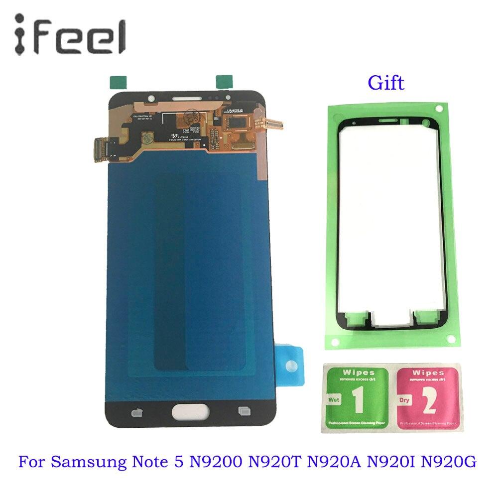Супер AMOLED ЖК экран для Samsung Galaxy Note 5 N9200 n920t N920A n920i n920g ЖК дисплей сенсорный экран дигитайзер сборка