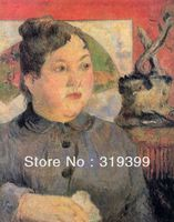Paul Gauguin Oil Painting Reproduction on Linen canvas,Madame Alexandre Kohler,100%handmade,Fast Shipping,Museum Quality