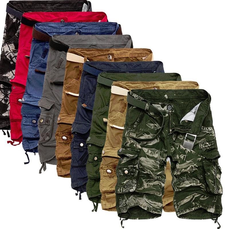 SFIT Men Cool Camouflage Summer Hot Sale Cotton Casual Men Short Pants Brand Clothing Comfortable Camo Men Cargo Shorts