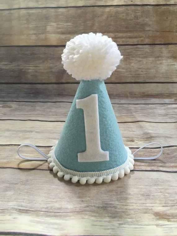 Boys First Birthday Hat 1st Birthday Hat Blue And White Mini Party Hat For Boy Kids Photo Shot Glitter Newborn Birthday Party Hats Aliexpress
