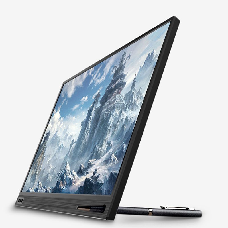 ZEUSLAP dünne tragbare lcd hd monitor 15,6 usb typ c hdmi für laptop, telefon, xbox, schalter und ps4 tragbare lcd gaming monitor - 2