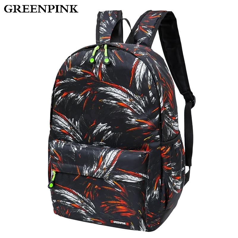 Greenpink Backpack Women Quality Waterproof Nylon Backpacks for Teenage Girls School Bags Fashion Camouflage Travel Backpack цена