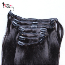 Straight Hair Clips Brazilian Human Hair Clip In Extensions Ever Beauty Silky Remy Hair Extension Clip 10-26 Inches