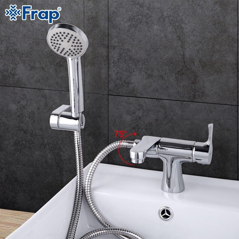 KEMAIDI Thermostatic Shower Faucet Wall Mounted Double Handle Faucet Spout Filler Diverter Chrome Bathtub Valve Faucet