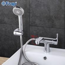 Frap 1 set Klassische Stil bad Becken Wasserhahn mit Hand Dusche Kalt und Warmwasser Mischer badewanne armaturen 75 Grad schalter F1252