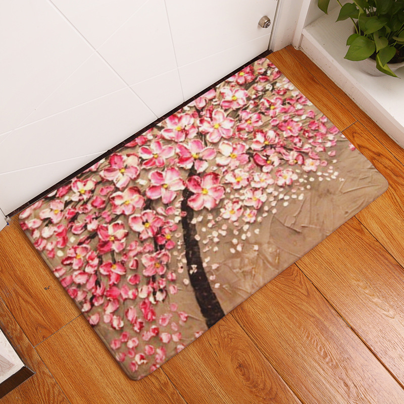 Flannel Carpet 3D Printed Tree Traditional Chinese 40x60cm 50x80cm ...