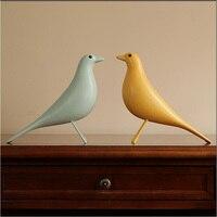 Creative Résine Oiseau Ameublement Décoration Artisanat Bureau Arts Cadeau De Noël De Mariage Colombe de Paix Statue Maison Mascotte