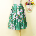 GORGEOUS 1950S STYLE Elestic band  FLORAL SKIRT  SUMMER ROCKABILLY 3 colors