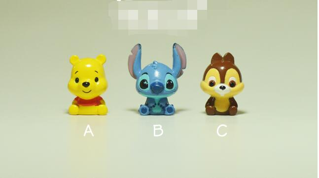 60pcs 2cm mix design stitch small figure toys Chip n Dale collection figure toys high quality