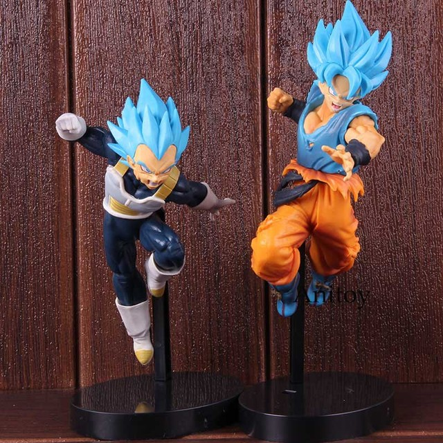 Dragon Ball Super Broly Ultimate Soldiers the Movie-II/III Blue Hair Son Goku Vegeta Collectible Model Toy