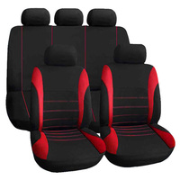 Taitian 1pc Red Color Car Seat Cover 9 Set Full Full Seat Covers for Styling Interior Decoration Protect Upholstery for Seats