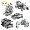 9pcs/set Mini Diy Fun 3D Golden Deer Boat Ford 1965 Mustang Car model tanks Adult Metal Model Puzzle Child Education Toy
