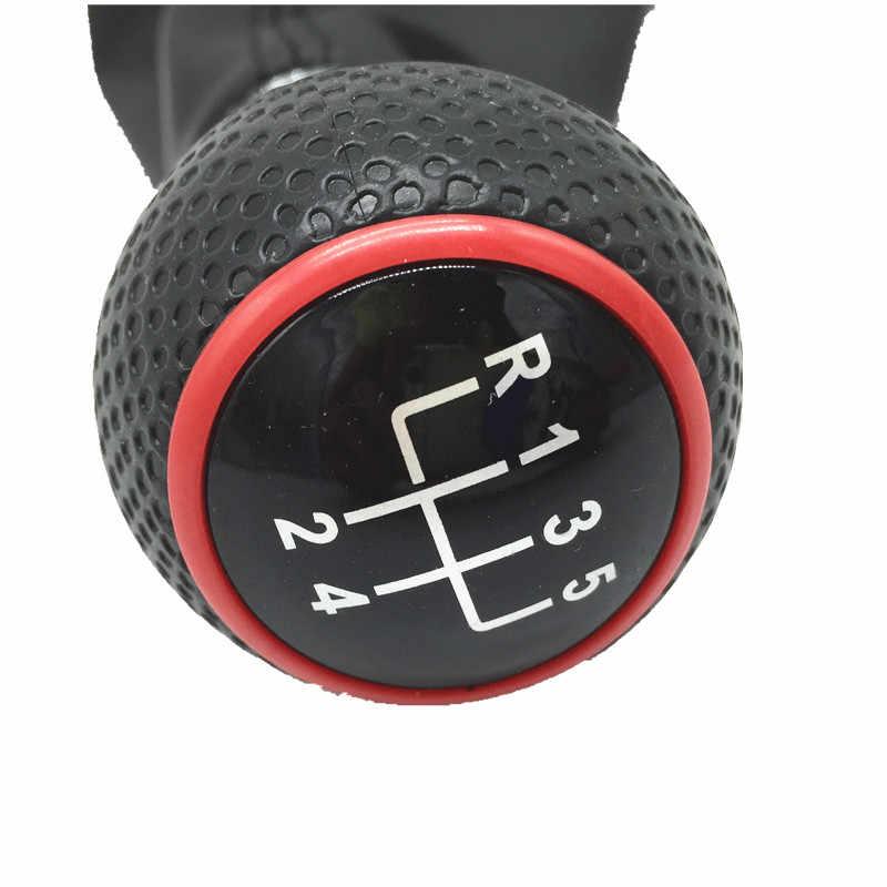 Newbee 23mm 5/6 prędkości czerwona ramka dźwignia zmiany biegów Gaiter Boot dla volkswagena VW Golf 4 IV MK4 GTI R32 Bora Jetta 1999-2004