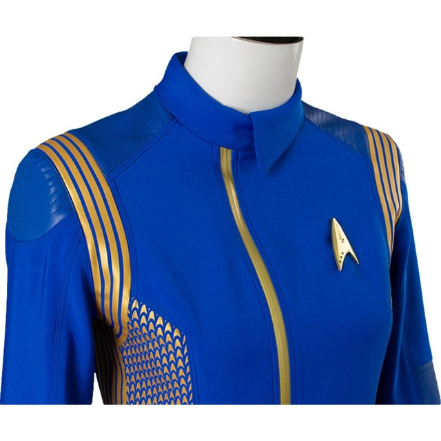 Star Trek Discovery Cosplay Michael Burnham Cosplay Costume Womens Crewman Sets Uniform 4