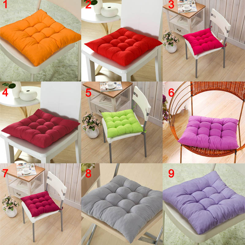 40*40CM Winter Home Office Decor Seat Cushion Solid Color Comfortable Bar Chair Sofa Pillow Buttocks Chair Cushions HFing