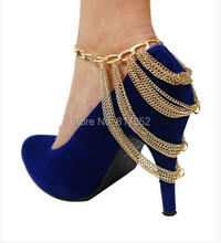 F02 Fashion Shoe Anklet Chains Foot Jewellry Fashion Jewelry