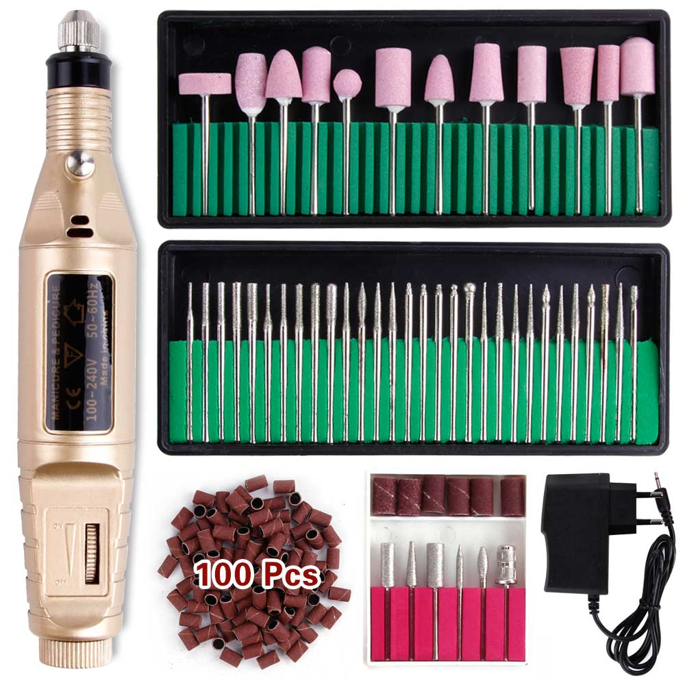 Pen Electric Nail Drill Bits Set Milling Ceramic Apparatus For Manicure Machine Pedicure Kit Nail File Tool Cuticle Cutters Tips