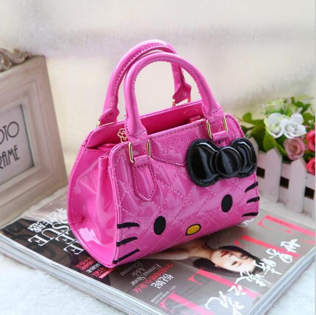 Hello Kitty children bags for girls handbags bow flower small messenger bag  gift cute school kids shoulder bags 5c2976f6e8745