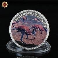 WR Endangered Wild Life Souvenir Coin Kangaroo Cute Animal 999.9 Silver Plated Silver Coins Commemorative Gift Coins Metal Craft