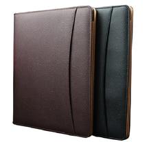 สีดำ PU หนัง Notepad A4 คลิปแฟ้มผู้ถือ Notepad สำหรับเอกสารธุรกิจกรณีเอกสาร
