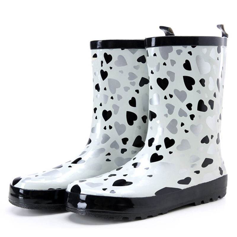 Tube In Rubber Rain Boot Women Rain Boots New Flat Sen In ...