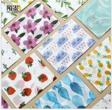 3pcs/pack Japan girl mood series DIY Multifunction translucent sulfuric acid paper postcard envelope Office Supplies WJ0446