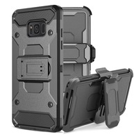 For Samsung Galaxy S8 Case Shockproof Hybrid Armor Stand Belt Clip PC Hard Back Cover For