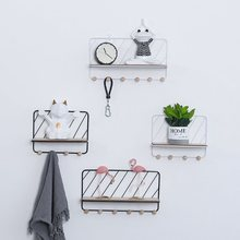Creative Iron Art Storage Holders Nordic Simple Style Multifunction Wall Decoration Groceries Ornament Clothes Keys Organizer