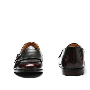 Image 4 - 男性ローファーレザーシューズの男性ビジネスドレスシューズオックスフォードシューズファッション男性のビッグサイズ 38 47