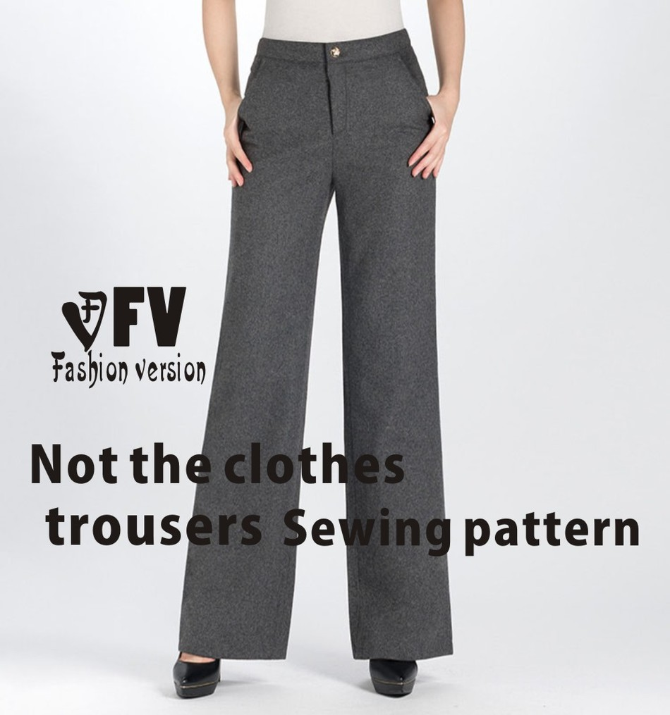 Wide Leg Trousers  Pants Sewing Pattern The Trousers Pattern(Not The Pants)  Elastic  BCK-32