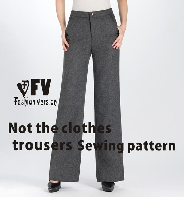 Wide leg trousers Pants sewing pattern The trousers pattern(Not the ...