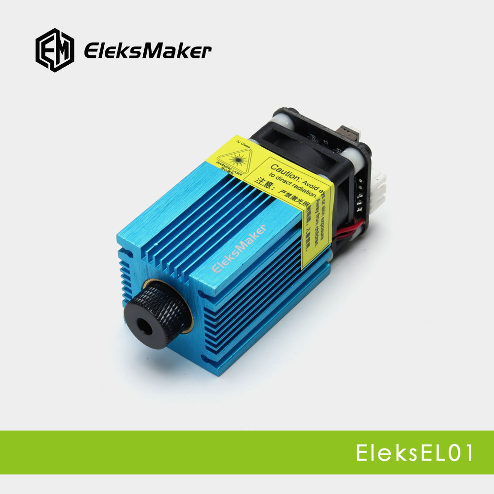 EleksMaker EL01 500mW/1600mW/2.5mW Blue Violet Laser Module PWM Modulation 2.54-3P DIY Engraver 500mw 1600mw 2500mw 5500mw focusable laser diode module with heatsink cooling fan for eleksmaker laser engraving machine pwm