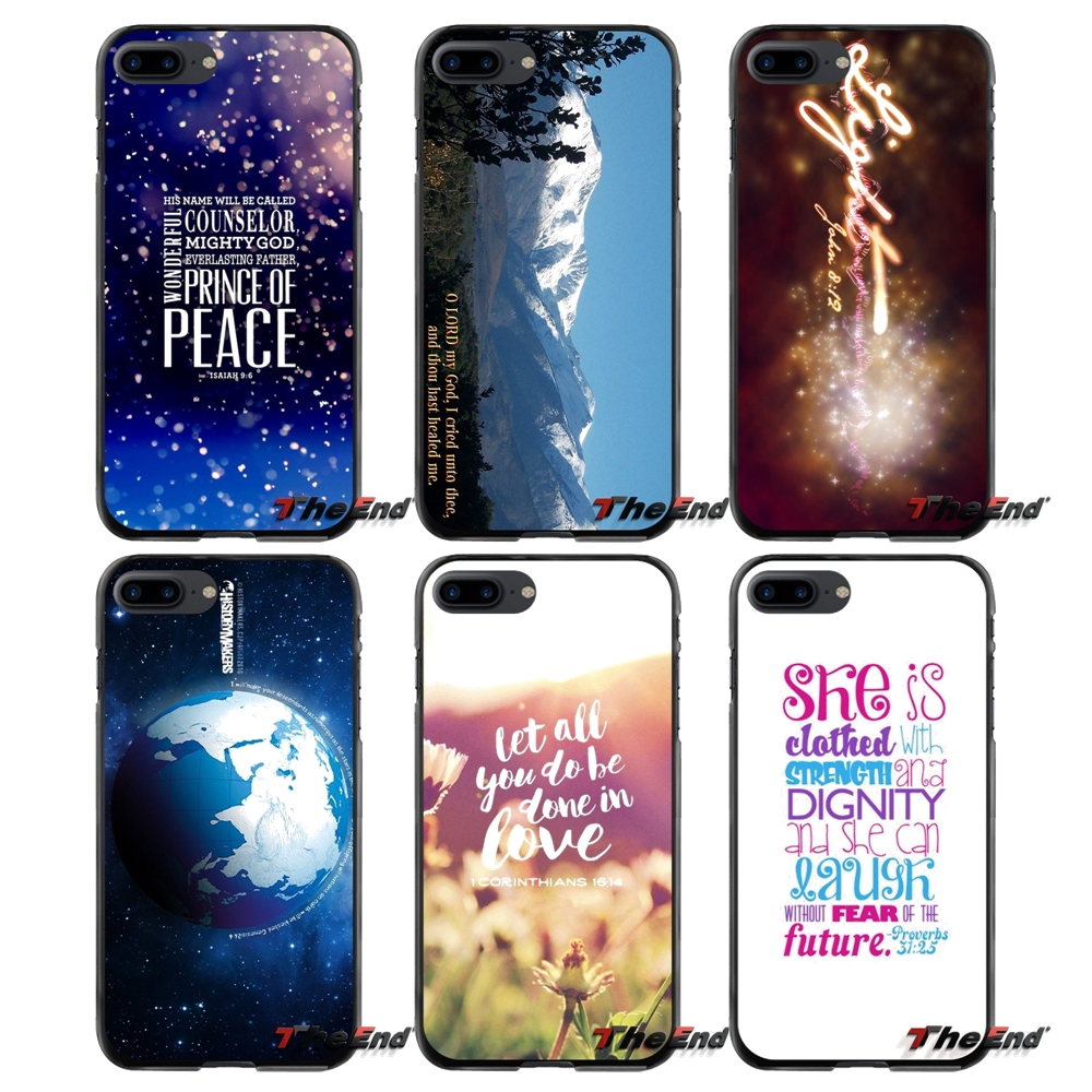 Verses Accessories Phone Cases Covers For Apple iPhone 4 4S 5 5S 5C SE 6 6S 7 8 Plus X iPod Touch 4 5 6