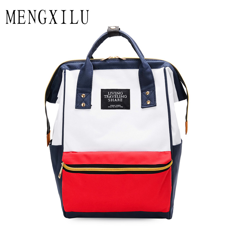 MENGXILU Multifunction Women Backpack Youth Korean Style Shoulder Bag  Laptop Backpack Female Schoolbags for Teenager Girls Boys c3fb382b5f801