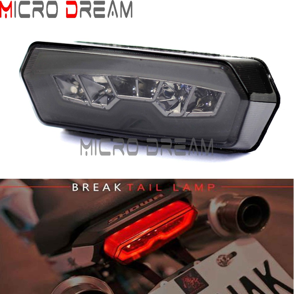 Motorcycle LED Tail Brake Light Smoke Taillights w/ Turn Signal Lamp for Honda MSX/Grom 125 CB650F CBR650F CTX700N 2013-2016 Honda Grom