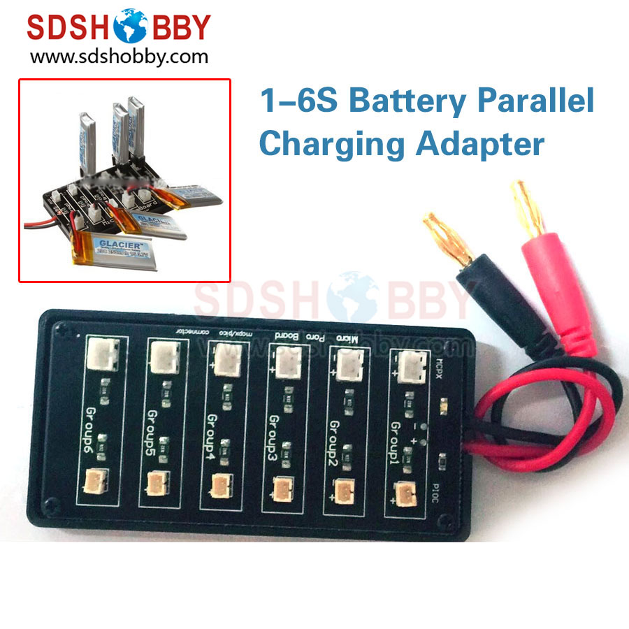 1-6S Battery Parallel Charger Charging Adapter JST/PH-2.0 Parallel Charging Board bll sync charging 4in1 5v 2a jst 3 7v 1100mah battery charger adapter kits for h11d h11 h11c drone fochutech battery