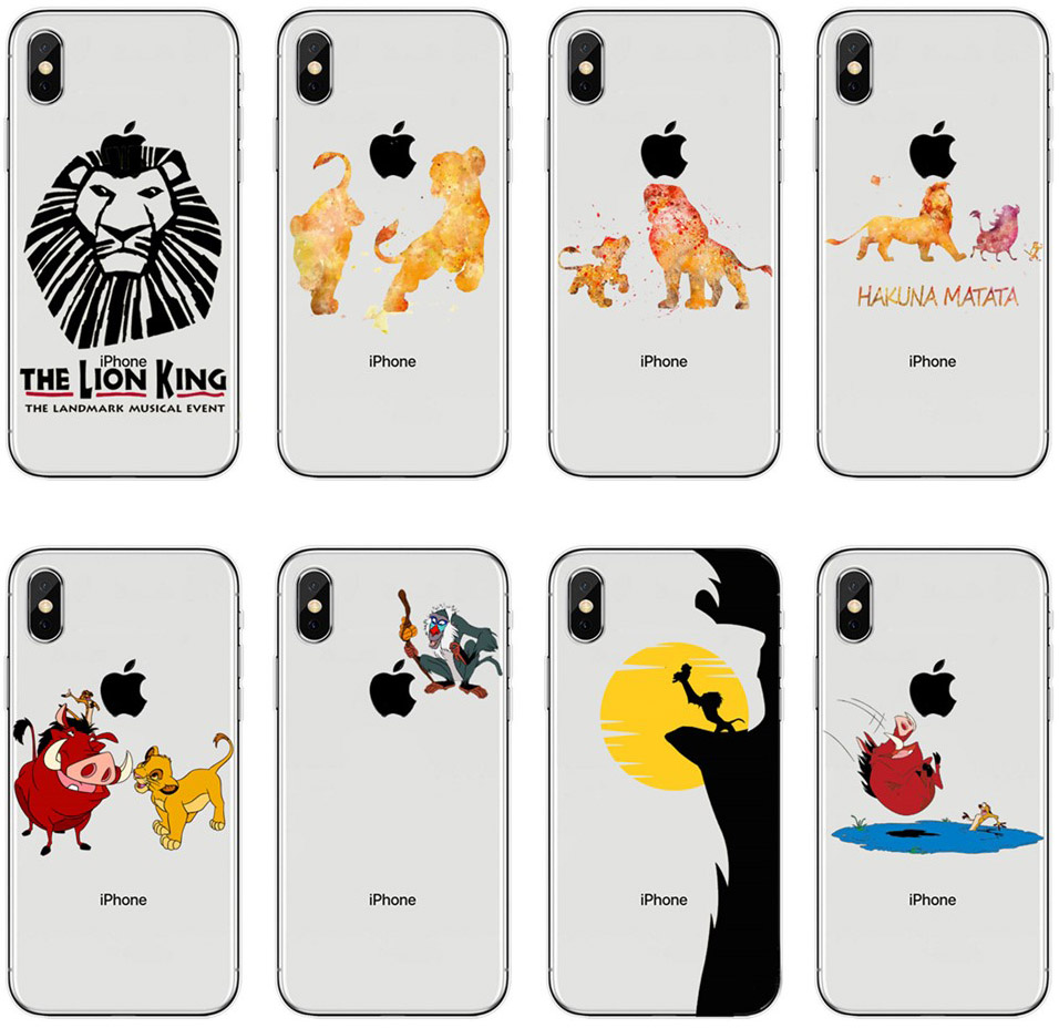 For <font><b>iPhone</b></font> X 10 XR XS MAX The <font><b>Lion</b></font> <font><b>King</b></font> Simba Cute cartoon Soft TPU <font><b>Case</b></font> For <font><b>iPhone</b></font> <font><b>6</b></font> 6S 7 8 Plus 8 7 Flexible Silicone Cover image
