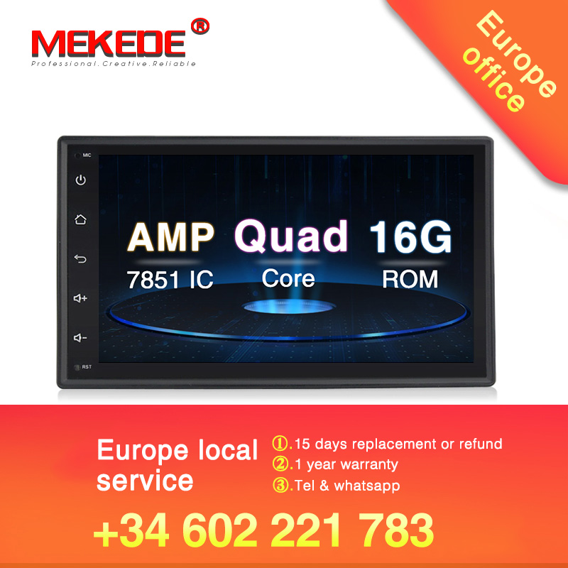 New model MEKEDE Universal Android 8 1 Car GPS DVD player for Nissan V W Toyota