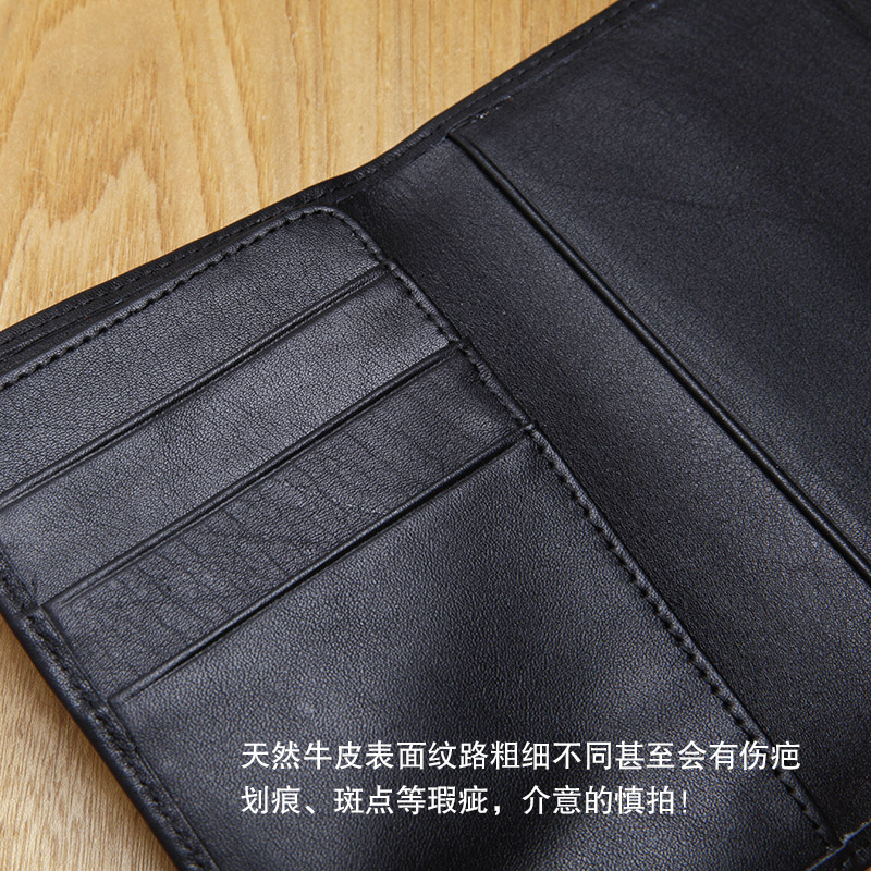 LAN mens leather passport cover handmade passport famous brand coin purses holders