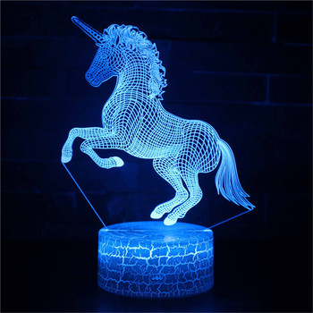 New 3D unicorn Led Night Lamp Remote Control RGB Table Lamp Creative Atmosphere Lamp Novelty Lighting Home Decoration Gift