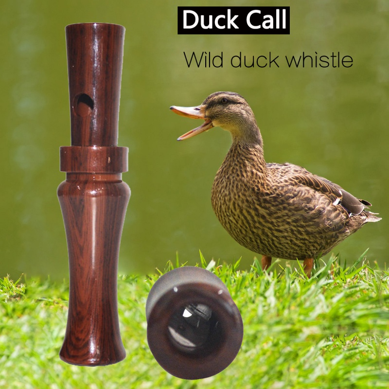 Outdoor Shooting Hunting Wooden Plastic Duck Whistle Duck Decoy Call Mallard Drake Calls Decoys Entice Wild Duck Closer