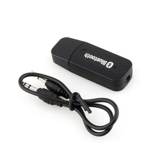 Black Color USB Wireless Bluetooth 3.5mm Music Audio Car Handsfree Receiver Adapter for phone for android A24