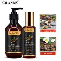 hair shine repair split end moroccan argan essential oils and shampoo set for keratin dry hair repair protein magical treatment