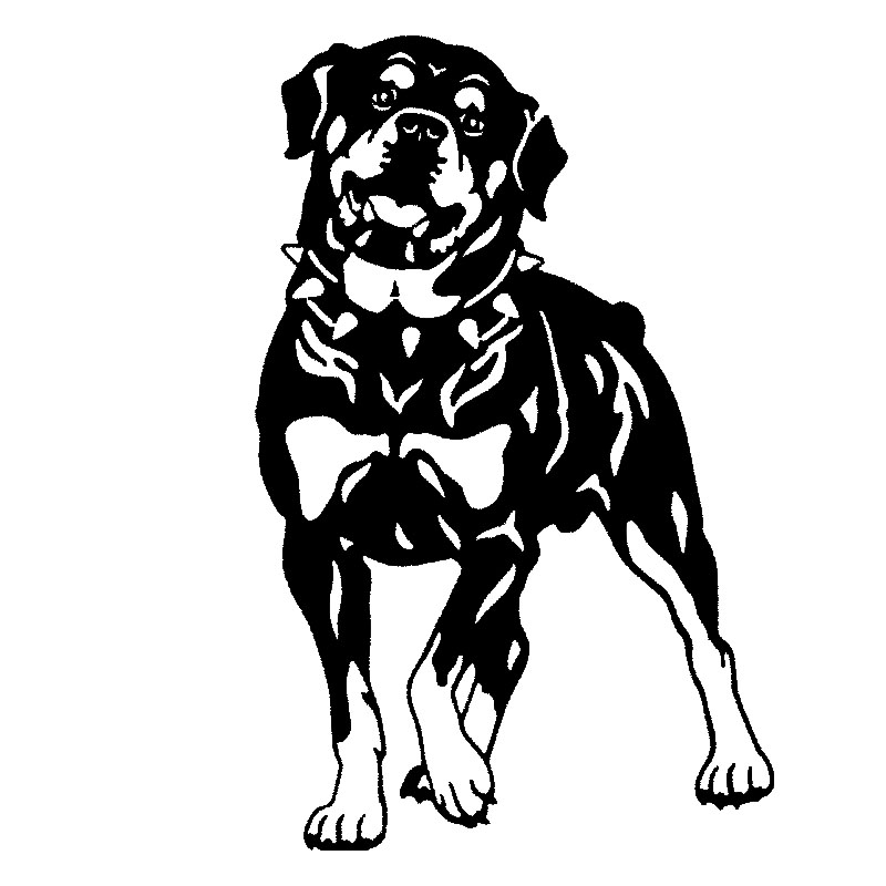 17*26.2CM Rottweiler Dog Car Stickers Personality Vinyl