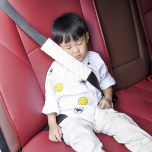 Image 2 - 1 Piece Baby Children Safety Strap Thick Plush Fabric Car Seat Belts Pillow Soft Shoulder Protection Pad Cushion Neck Seat Belt