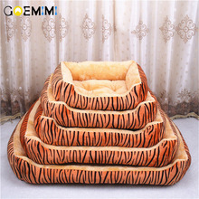 Pet bed for animals dog beds large dogs cat house tiger pattern mat sofa Top Quality House